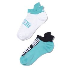 """VS PINK Socks Super cute VS PINK ultimate socks (super comfy and stretchy). One pack which includes a total of 2 pairs! Pretty blue and white and one pair says """"Over it"""". Brand new with tags! •No Trades• No PayPal• No Damages• PINK Victoria's Secret Accessories Hosiery & Socks"""