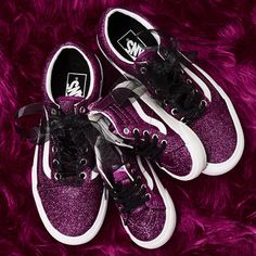7f31e6208a36 Vans Old Skool Platform Trainers Wild Aster True White Glitter - Hers  trainers