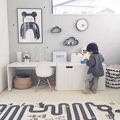 Pin on 子供部屋 Toddler Rooms, Baby Boy Rooms, Nursery Room, Kids Bedroom, White Kids Room, Cool Kids Rooms, Room Kids, Girl Bedroom Designs, Boys Room Decor