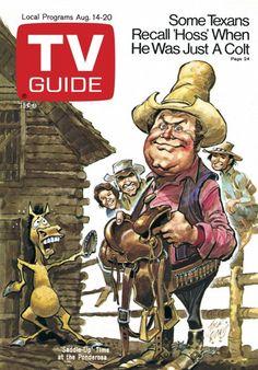 TV Guide August 14, 1971 - Bonanza Illustration by Jack Davis.