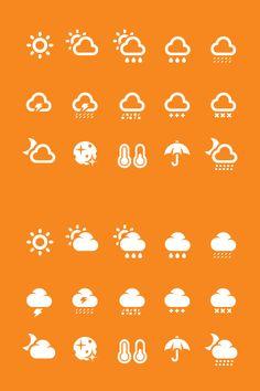 Free Weather icon set Web Design, Icon Design, Graphic Design, Mobile Icon, Weather Icons, Ui Inspiration, Line Icon, Filofax, Pattern Wallpaper