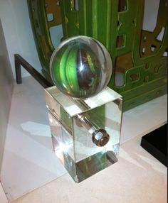 Kim Macumber Interiors discovered these Lucite Lux® andirons!
