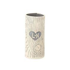 Personalized Faux Bois Vase | tree carving, handmade vase | UncommonGoods
