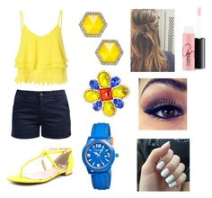 """""""Colorful Summer"""" by sparkly-cat ❤ liked on Polyvore featuring Glamorous, Barbour, Vince Camuto, Chanel, ABS by Allen Schwartz, Crayo and MAC Cosmetics"""