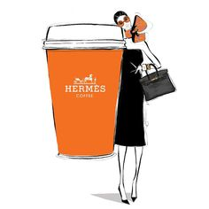 """My friends, May your Monday be short and your coffee be strong! There's nothing an @hermes coffee can't fix."""