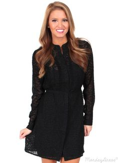 Misty Blues Dress In Black | Monday Dress Boutique