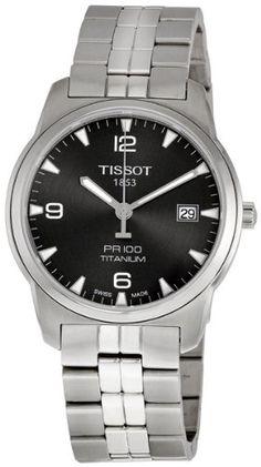 Tissot Men's T049.410.44.067.00 Anthracite Dial PR 100 Watch - http://www.specialdaysgift.com/tissot-mens-t049-410-44-067-00-anthracite-dial-pr-100-watch/