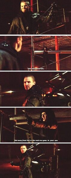 """""""Get away from him or the next one goes in your eye"""" - Al Sah-Him & Thea (Bad-ass Speedy!) #Arrow"""