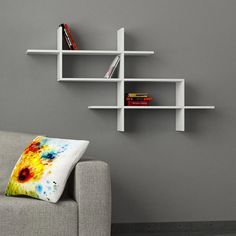 Halic Wall Shelf White