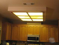 Removing a Fluorescent Kitchen Light Box via TheKimSixFix.com