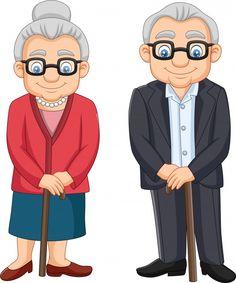 Cartoon elderly couple isolated on white... | Premium Vector #Freepik #vector #woman #man #character #cartoon Cute Couple Art, Cute Couples, Doodle Drawings, Easy Drawings, Community Helpers Worksheets, Hiding Feelings, Family Drawing, Elderly Couples, Beautiful Roads