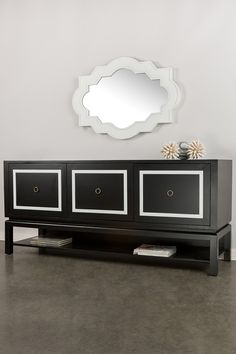 Otto Black & White Sideboard by Statements by J on @HauteLook