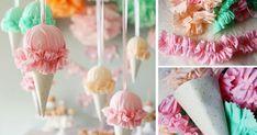 Zmrzlina, ktorá sa neroztopí! S týmto návodom si túto dekoráciu na letné oslavy vyrobíte aj vy doma! Handmade zmrzlina dekorácia, DIY nápad z látky, papiera
