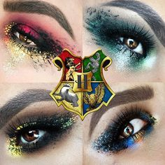 Harry Potter Houses inspired makeup!
