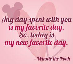 cualquier día que paso contigo es mi día favorito es así, hoy es mi día favorito de nuevo