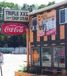 Triple XXX | Opened in 1929 by Bert Wright, the 24-hour restaurant on the Levee near Purdue University.  The first and oldest Drive-in Restaurant in Indiana.  SIGNATURE BURGERS ARE MADE WITH 100% SIRLOIN GROUND IN OUR KITCHEN.  WHY IS IT CALLED CHOPPED STEAK? BECAUSE IT IS!
