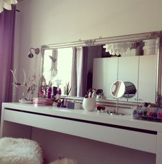 long mirror sideways for vanity