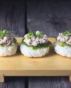 Yaki Onigiri With Seaweed And Tuna Salad