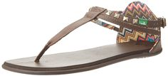 Sanuk Women's Gilded T-strap Sandal ^^ Don't get left behind, see this great  product : Sanuk sandals