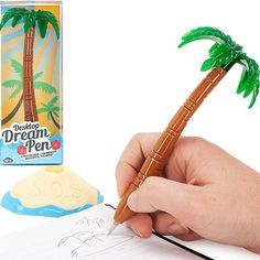 turn your desk into an oasis with this palm tree pen