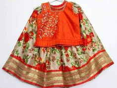 Traditional Kids Lahenghas | Buy Online Kids Wear | Elegant Fashion Wear