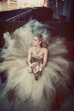 Absolutely stunning with custom gown by Christian Siriano Photograph by Jang Photographers http://www.storyboardwedding.com/whimsical-romance-unleashed-in-this-spring-embodied-manhattan-wedding-at-landmark-on-the-park/
