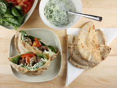 Mini Greek Lamb Pita Burgers paired with a tasty and surprisingly easy-to-make tzatziki.