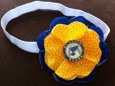 STL St Louis Blues Hockey Handmade Flower Headband by MyAuntJD, $7.99