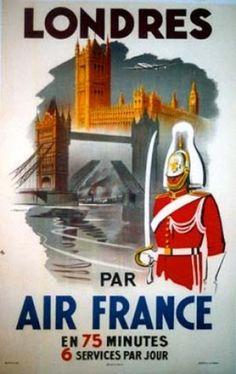 Robert Falcucci / Londres par Air France / 1948