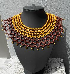 Zulu Netted collar beaded necklace