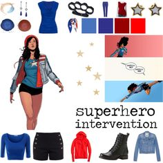 America Chavez by jaguar-kitty on Polyvore featuring J.Crew, maurices, Chloé, Alexander McQueen, Croft & Barrow, Frye, Marc by Marc Jacobs and Moschino