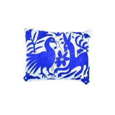 Image of Blue Handwoven Otomi Pillow Cover