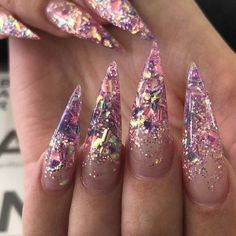 In look for some nail designs and ideas for your nails? Here is our set of must-try coffin acrylic nails for cool women. Glam Nails, Dope Nails, Beauty Nails, Nails On Fleek, Nail Art Designs, Glitter Nail Designs, Fancy Nails Designs, Clear Nail Designs, Hair And Nails