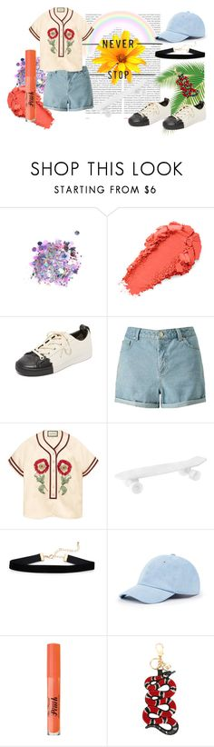 """29/04"" by glassofwater97 on Polyvore featuring moda, Oris, The Gypsy Shrine, DKNY, Miss Selfridge, Gucci, Seletti, Sole Society e Too Faced Cosmetics"