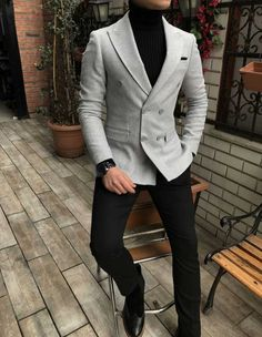 Terziademaltun – Italian style mens slim fit velvet cachet blazer gray single … – nasir – Join in the world of pin Blazer Outfits Casual, Stylish Mens Outfits, Stylish Man, Mens Fashion Blazer, Suit Fashion, Mens Blazer Styles, Classic Mens Fashion, Formal Fashion, Fashion Black