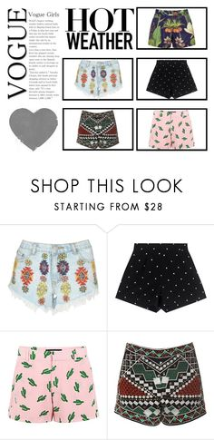 """""""shorts"""" by nassophorea on Polyvore featuring moda, Lipsy, American Retro, Glamorous y Penfield"""
