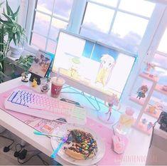 Gaming setup nintendo – gaming-setup nintendo – configuration de jeu n My New Room, My Room, Girl Room, Gaming Room Setup, Computer Setup, Pc Setup, Room Ideas Bedroom, Room Decor, Game Room Kids