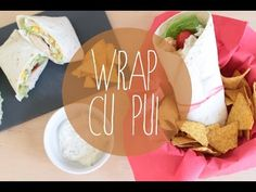 Rețetă Wrap cu pui, Petitchef, Stop motion Stop Motion, Fusilli, Grilling, Birthday Cake, Cooking Recipes, Bacon, Cheese, Tableware, Ethnic Recipes