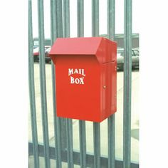 A simple mailbox that can hang over railing....  www.mailboxemporium.com Safe Storage, Front Door Colors, Entryway Ideas, Storage Places, Mailbox, Dyi, Fence, Lockers, Porch