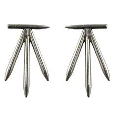 Thunderbird Stick Earring / Antique Silver - The 2 Bandits