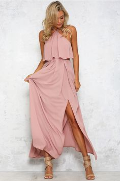 HelloMolly | In My Element Maxi Dress Blush - New In