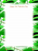 FREE Printable St. Patrick's Day Lined Stationery - Money Savers at Kid Scraps