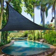 Amazon.com: 11.5' Ft Triangle Outdoor Sun Shade Sail Canopy Blue PE Material UV Protection Portable for Park Beach Patio Swimming Pool Spa Shading Sunscreen Top Overhead Cover: Patio, Lawn & Garden