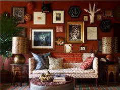John Robshaw-I recognize the fabrics & his eclectic style