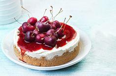 Cheesecake ψυγείου χωρίς ζάχαρη Sweet Desserts, Healthy Desserts, Dessert Recipes, Healthy Recipes, Healthy Food, Food Categories, Cheesecake Bars, Sugar Free, Food To Make