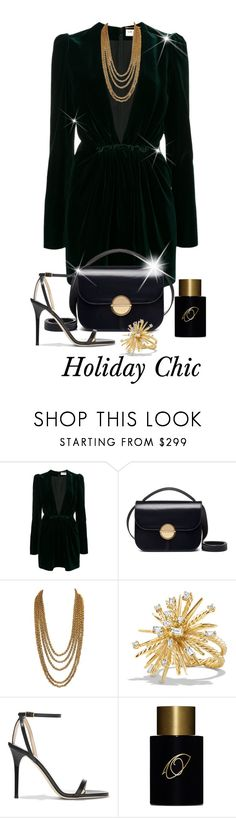 """""""Favorite Time Of The Year"""" by shamrockclover ❤ liked on Polyvore featuring Yves Saint Laurent, Marni, David Yurman, Jimmy Choo and Frédéric Malle"""