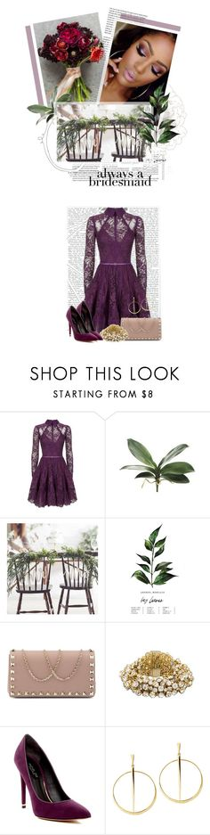 """Always a Bridesmaid: Eggplant & Merlot"" by crystal85 ❤ liked on Polyvore featuring Elie Saab, Valentino, Cara Accessories, Rachel Zoe and Lana"