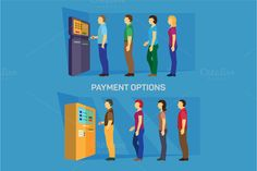 Payment options - banking finance by VectorMarket on Creative Market