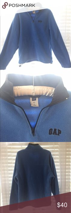 Gap Fleece Pull Over Gently worn, baby blue, fleece zip up and pull over. Size M! Perfect for winter!!Smoke free home! 🌿 Happy to bundle! 💕 GAP Jackets & Coats