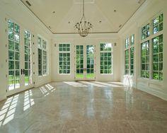 Possible sunroom addition favorite room for Sunroom tile floor ideas
